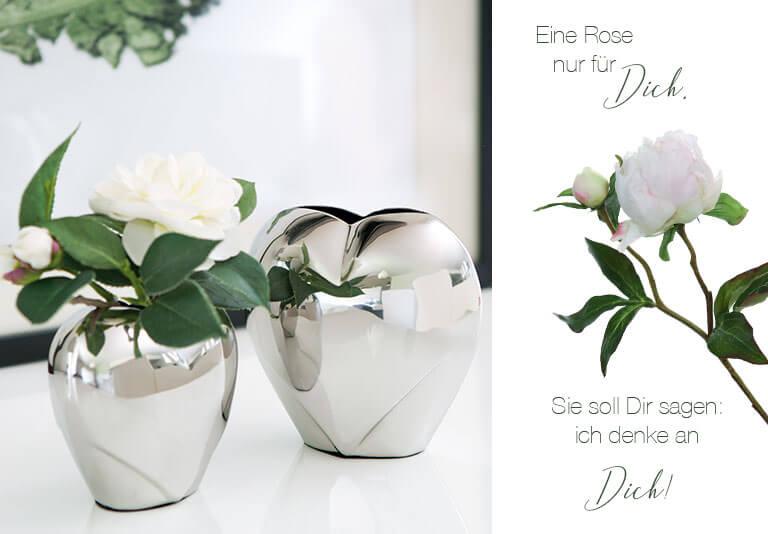 Dekoration mit Rosen zum Muttertag