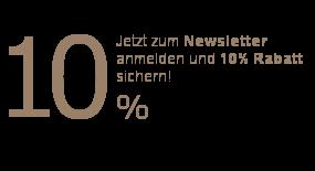 Jetzt zum Newsletter anmelden und 10% Rabatt sichern!