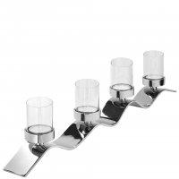Teelichthalter, 4-flammig Wave V158083