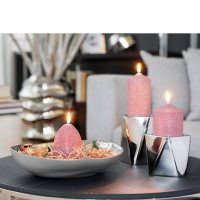 Stumpenkerzen Candle 123242 mit Dekoration