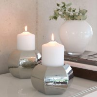 metallic Stumpenkerze Candle V123844 mit Dekoration