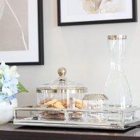 Glaskaraffe Platinum 173064 mit Dekoration