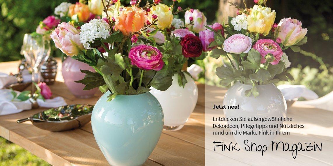 Magazin - Jetzt neu! - Entdecken Sie außergewöhnliche Dekoideen, Pflegetipps und Nützliches rund um die Marke Fink in Ihrem Fink