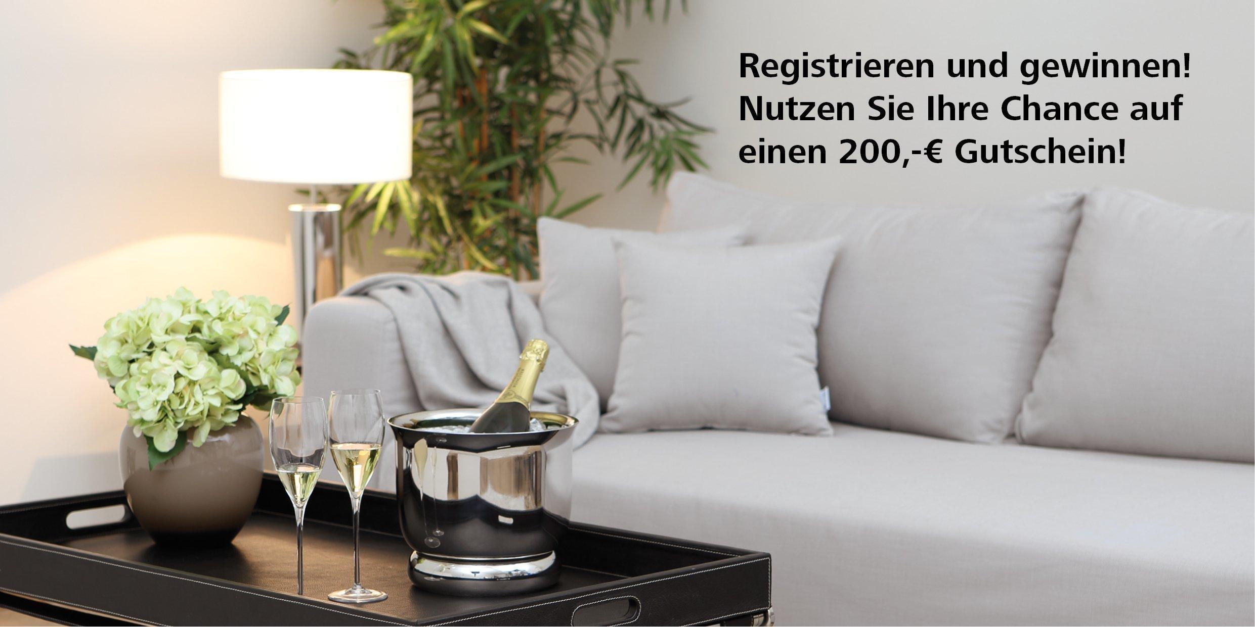 Gewinnspiel - Registrieren und gewinnen! - Nutzen Sie Ihre Chance auf einen 200,-€ Gutschein!