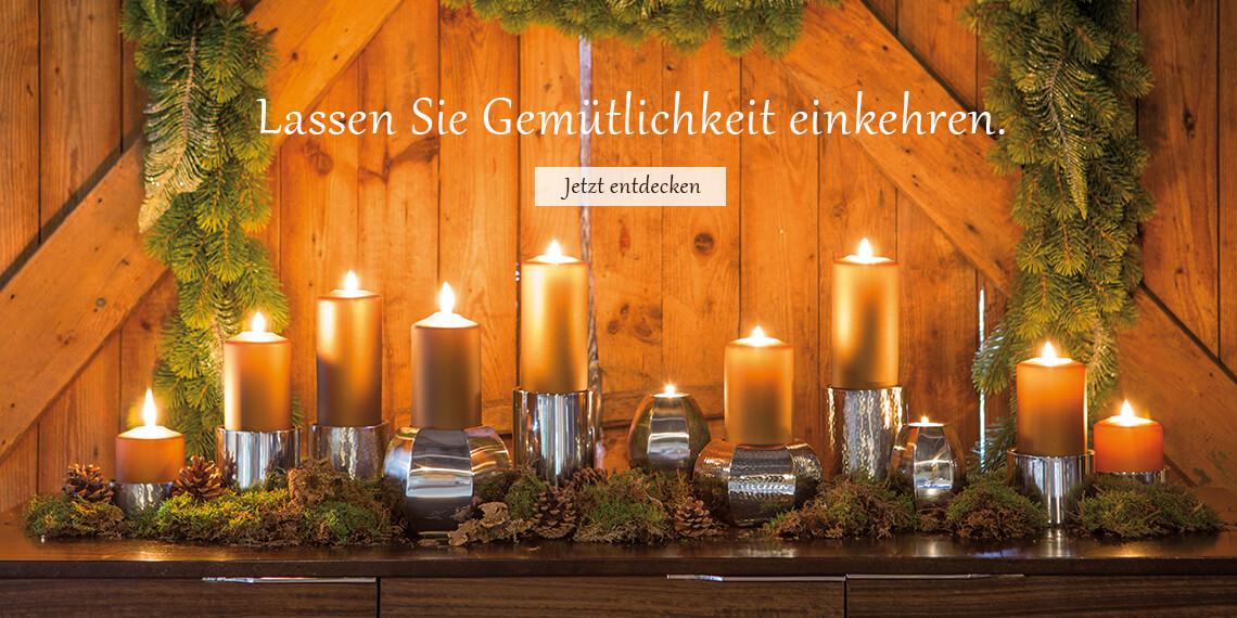 Kerzenschein - Lassen Sie Gemütlichkeit einkehren